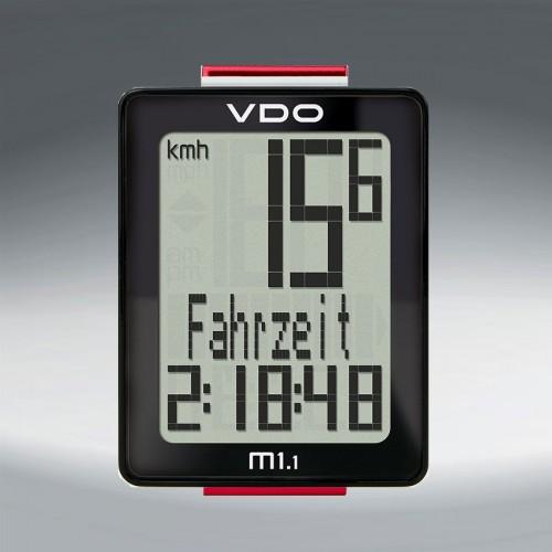Велокомп. 4-30010  VDO M1.1 NEW  5 ф-ций 3-строчный дисплей черно-белый