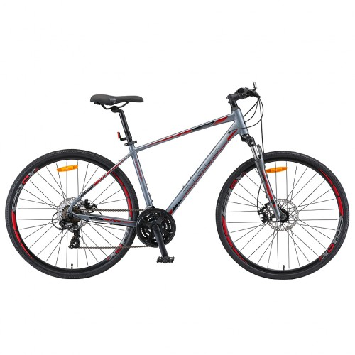 "Велосипед 28"" STELS Cross-130 MD Gent 20"" Серый, арт.V010"