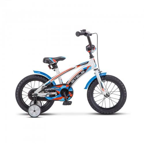 "Велосипед 14"" Arrow 8,5"" Синий/белый арт.V020"