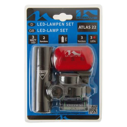 Фара+фонарь 5-221064 1д повыш.ярк.3W/2ф. алюм.+3д./3ф. красный  с батар.
