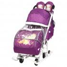 """Disney-baby 2 Санки-коляска (DB2/1, баклажан, Винни, Да, 3 положения до """"лежа"""", перекидная)"""